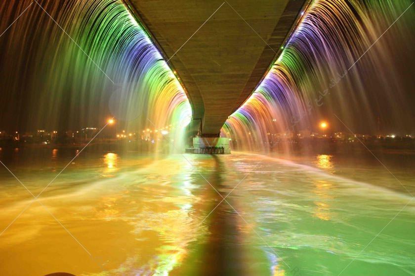 طولانی ترین آبشار مصنوعی خاورمیانه