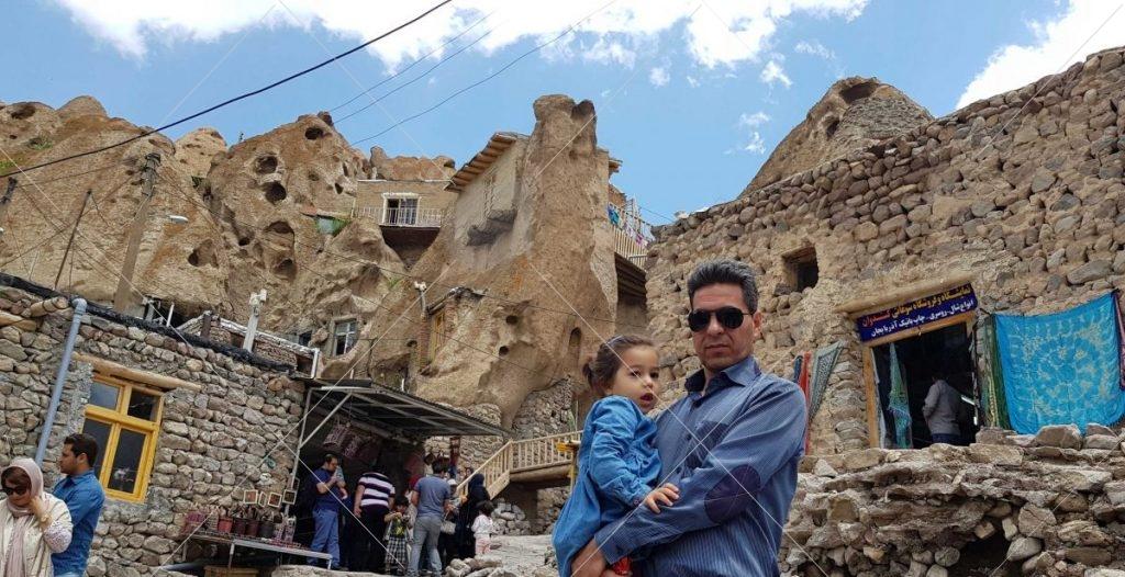 نمایی از خانه های تاریخی روستای کندوان از رستاک