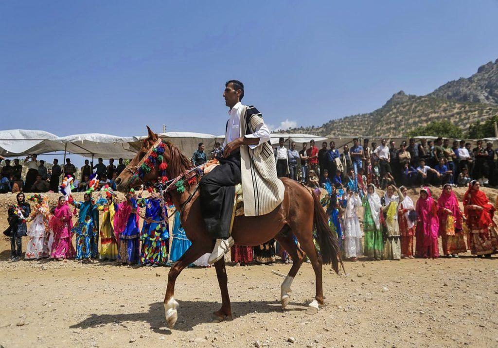 اسب در عروسی بختیاری ها
